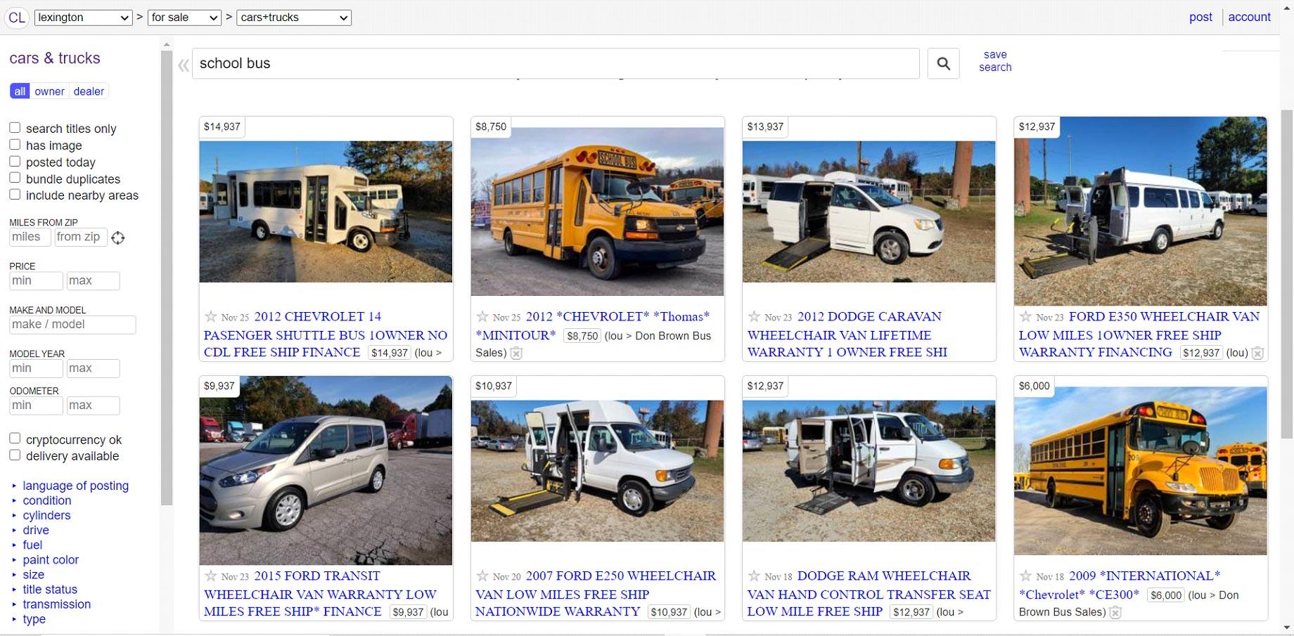 Skoolies For Sale On Craigslist
